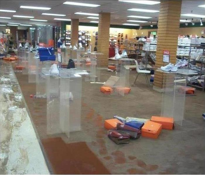 Commercial Water Damage – Atlanta Retail Store Before