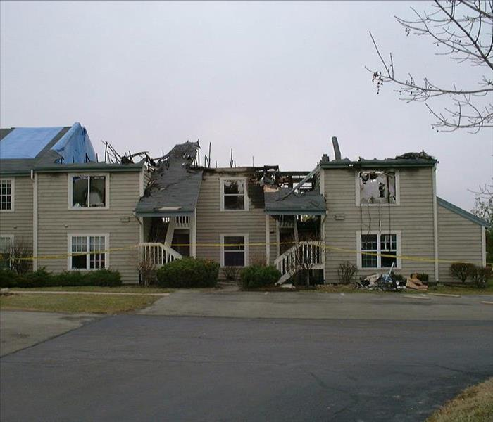 Commercial fire damage before fire restoration